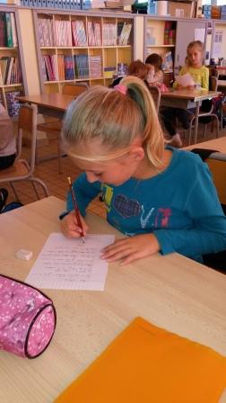 écriture de la lettre